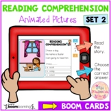 Reading Comprehension Animated Pictures Set 2 Boom Cards ™