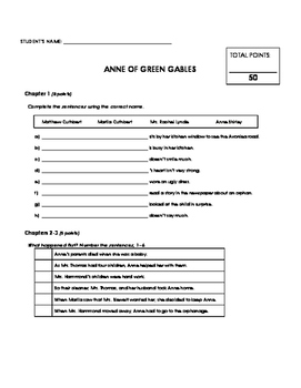 Reading Comprehension - Anne of Green Gables (Penguin Readers)