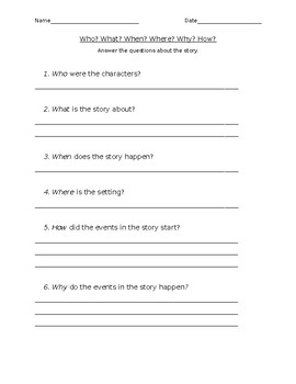 Reading Comprehension Answer Sheet