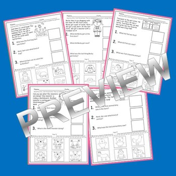 Reading Comprehension: Answering with Pictures (Cut and Paste) (Set 1)