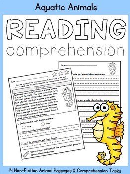 Reading Comprehension:  Aquatic Animals