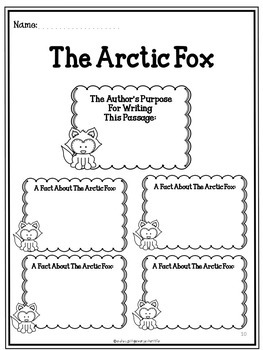 The Arctic Fox - Reading Comprehension