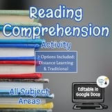 Reading Comprehension - Article Summary - Editable in Goog