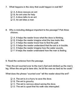 Grade 3 CCSS Reading Test Practice