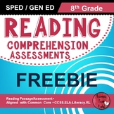 Reading Comprehension Assessments FREEBIE (8th)