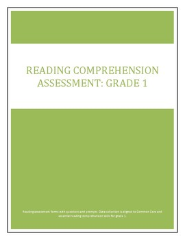 Reading Comprehension Assessment: Grade 1