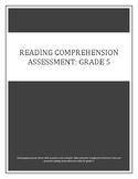 Reading Comprehension Assessment: Grade 5