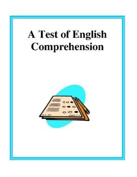 Reading Comprehension Assessment Test