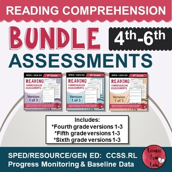 Reading Comprehension Assessments (4th-6th) YEAR-LONG