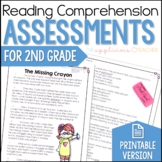 Reading Comprehension Tests 2nd Grade