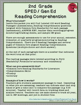 Reading Comprehension Assessments (2nd) Version 2