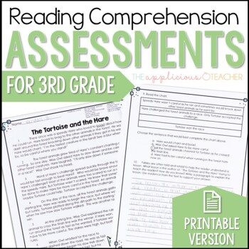 3rd Grade Reading Tests Reading Comprehension by The ...