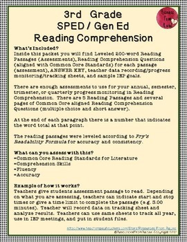 Reading Comprehension Assessments (3rd) Version 2