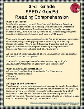 Reading Comprehension Assessments (3rd) Version 3