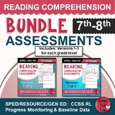 Reading Comprehension Assessments (7th-8th)