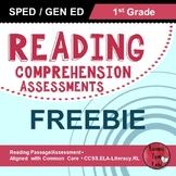 Reading Comprehension Assessments FREEBIE (1st)