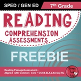 Reading Comprehension Assessments FREEBIE (7th)