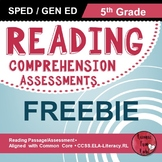 Reading Comprehension Assessments FREEBIE (5th)