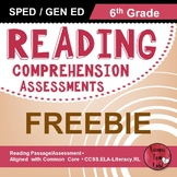 Reading Comprehension Assessments FREEBIE (6th)