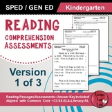 Reading Comprehension Assessments (Kindergarten) Version 1