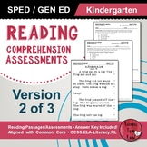 Reading Comprehension Assessments (Kindergarten) Version 2