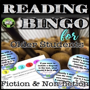 Reading Comprehension Bingo Grades 5-12  WORKS WITH ANY TEXT