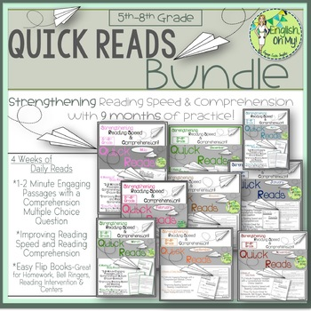 Reading Comprehension BUNDLE-Quick Reads