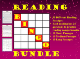 Reading Comprehension Bingo Game - Bundle Package
