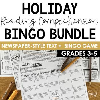 Reading Comprehension Bingo (Holiday Bundle)