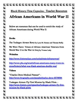 Reading Comprehension: Black History Time Capsules Bundle