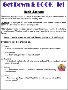 Reading Comprehension Book Jacket Mini-Project