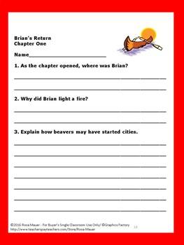 Brian's Return Reading Comprehension