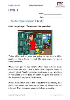 Reading Comprehension Booklet - Level 4