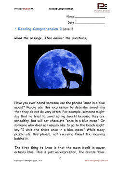 Reading Comprehension Book - Level 5