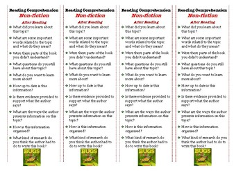 Reading Comprehension Bookmark