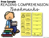 Reading Comprehension Bookmark Free