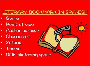 Reading Comprehension Bookmark in SPANISH
