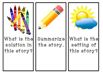 Reading Comprehension Bookmarks