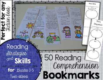 Reading Comprehension Bookmarks: Reading Skills and Strategies