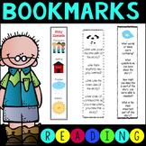 Reading Comprehension Bookmarks K-3