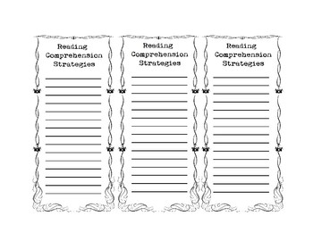 Reading Comprehension Bookmarks | Reading Comprehension Strategies