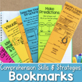 Reading Comprehension Bookmarks to Use While Reading Passages and Books