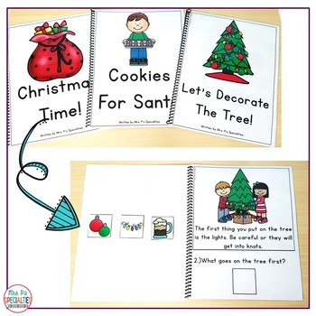 Reading Comprehension Books With Picture & Visual Choices (December Set)