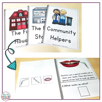 Reading Comprehension Books With Picture & Visual Choices February Set