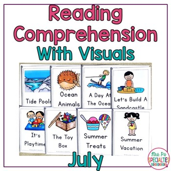 Reading Comprehension Books With Picture & Visual Choices July Set
