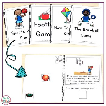 Reading Comprehension Books With Picture & Visual Choices June Set