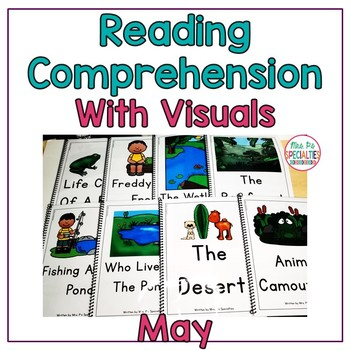 Reading Comprehension Books With Picture & Visual Choices May Set