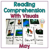 Reading Comprehension Books With Pictures and Visual Choices May Set