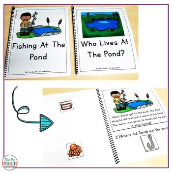 Distance Learning Reading Comprehension Books W/ Pictures & Visual Choices May