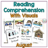 Reading Comprehension Books With Picture & Visual Choices - August Set